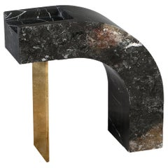 Found II Black Marble Side Table No.6 by A Space