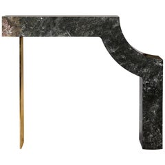 Found II Console Table No.1 in Black Marble by A Space