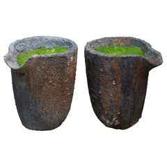 Foundry Crucible Planter, France, 20th Century