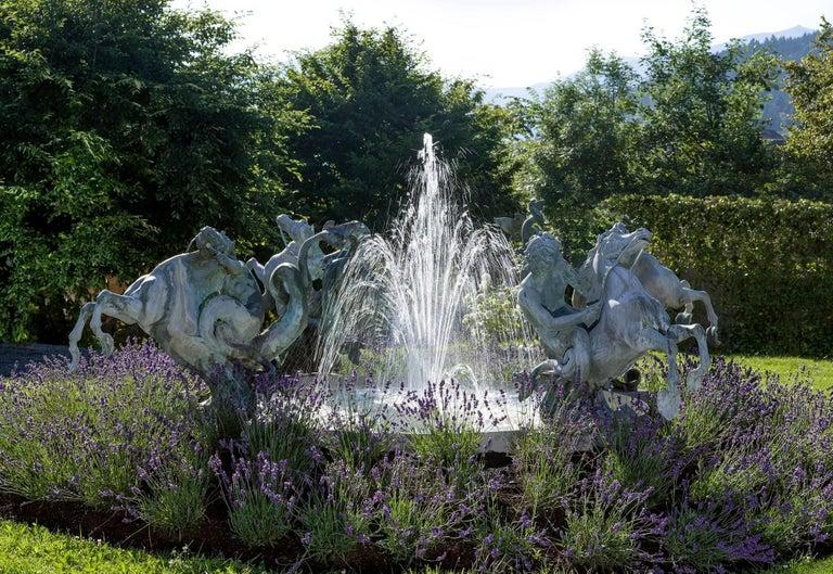 Fountain, Art Nouveau, Bronze Sculpture For Sale 1