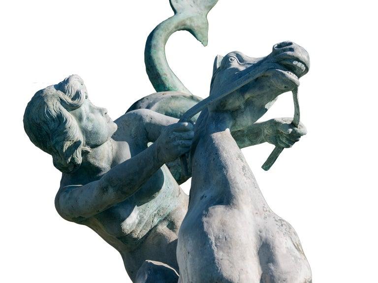 Fountain, Art Nouveau, Bronze Sculpture For Sale