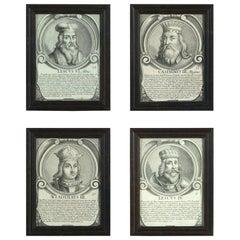 Four 17th Century Engravings of Polish Kings
