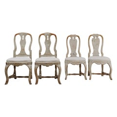 Four 18th Century Swedish Dining Chairs