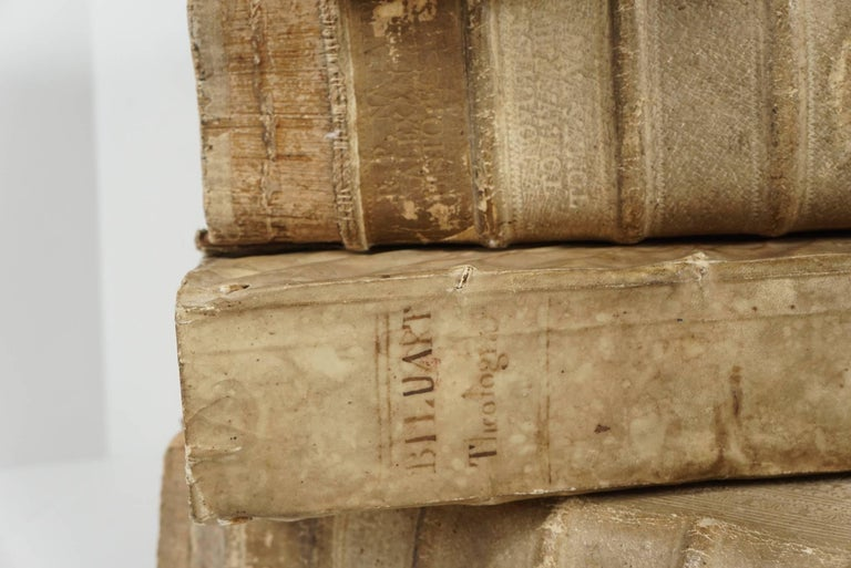18th Century and Earlier Four 18th Century Vellum Covered Latin Books For Sale