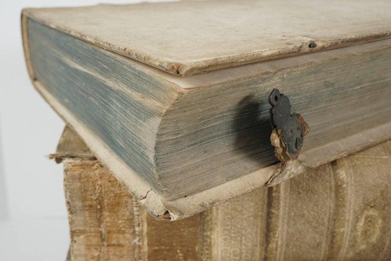 Four 18th Century Vellum Covered Latin Books For Sale 2
