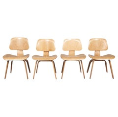 Four 1940s Early Eames DCW Dining Chairs by Evans Products