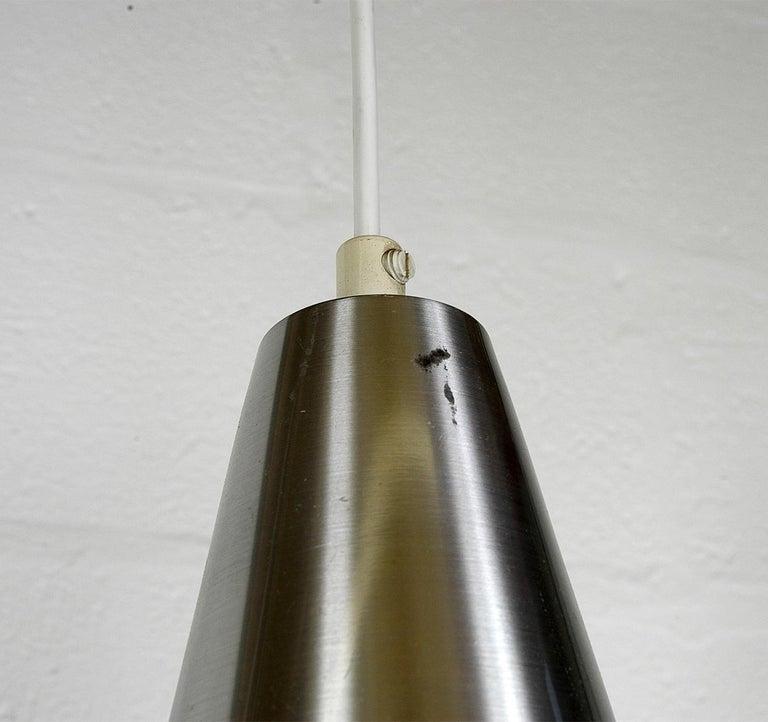 Four 1960s Danish Corona Ceiling Lamps Pendants by Jo Hammerborg for Fog & Morup For Sale 10