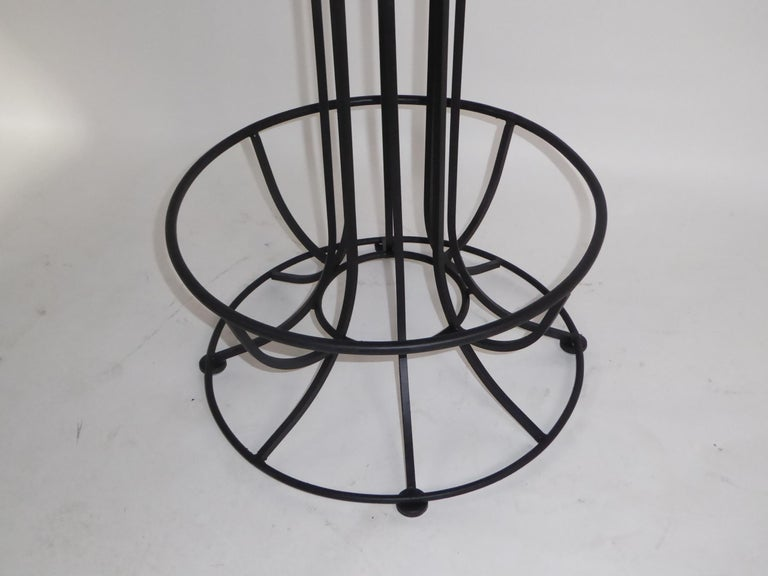 Four 1960s Swiveling Bar Stools Upholstered in Houndstooth Anton Lorenz Inspired For Sale 3