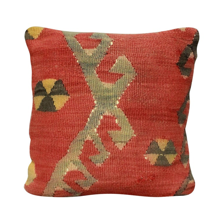 A set of four Turkish Kilim cushions, with good patina. Hand washed and with new goose feather pads.