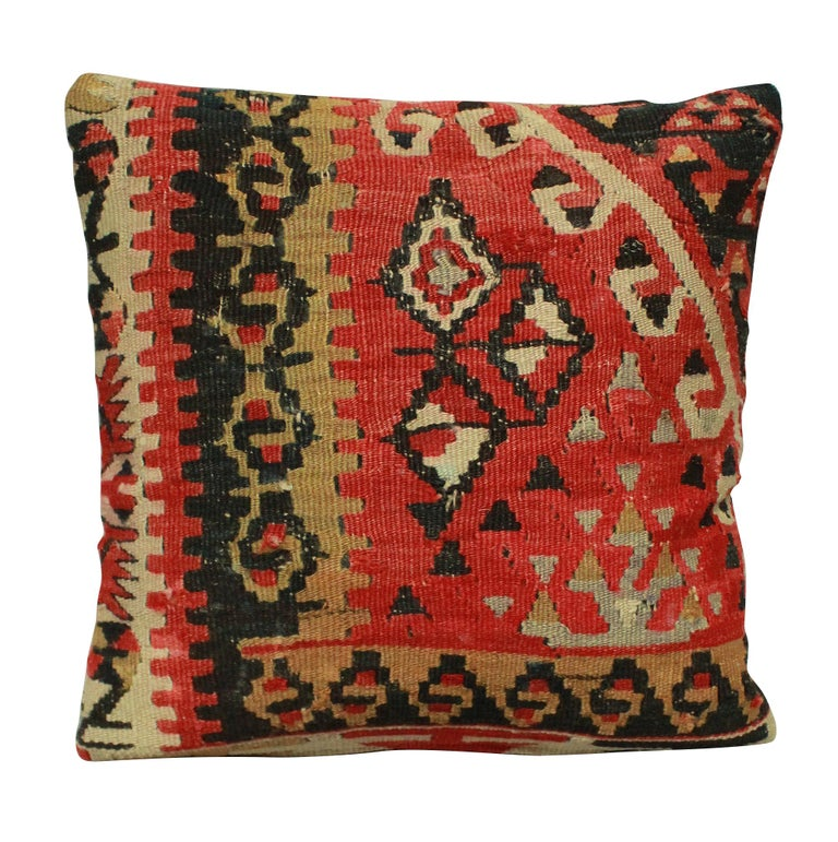Four 19th Century Kilim Cushions In Good Condition For Sale In London, GB