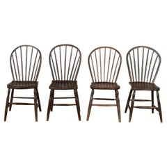 Four 19th Century West Country Hoop and Stick Back Chairs