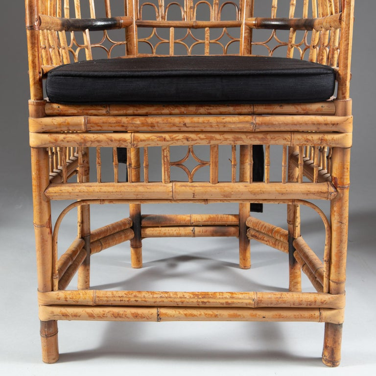 Four 20th Century Chinese Export Bamboo Armchairs For Sale 6