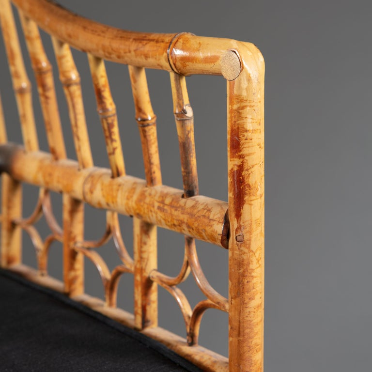 Four 20th Century Chinese Export Bamboo Armchairs For Sale 8