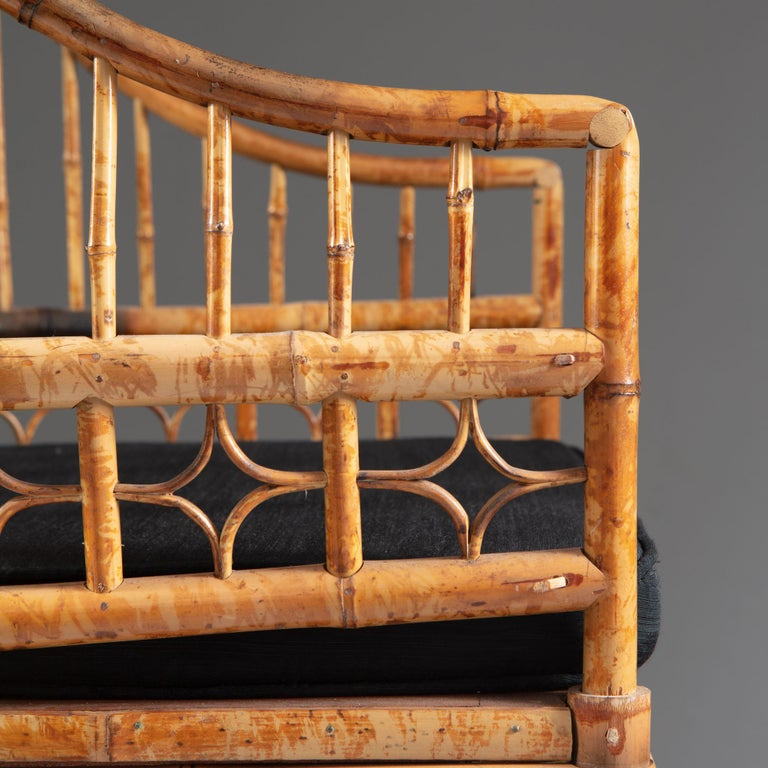 Four 20th Century Chinese Export Bamboo Armchairs For Sale 9