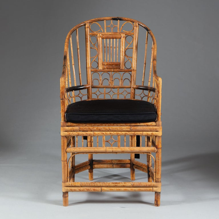Four 20th Century Chinese Export Bamboo Armchairs In Good Condition For Sale In London, GB