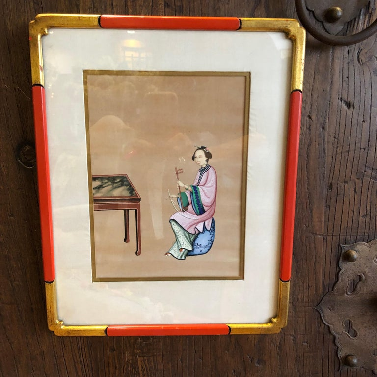 Four '4' Chinese Export Paintings In Excellent Condition For Sale In Sarasota, FL