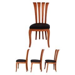 Four A. Sibau Italian Dining Chairs