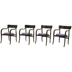Four Alexandria Chairs by Edward Wormley for Dunbar, Elegant Modern at Its Best