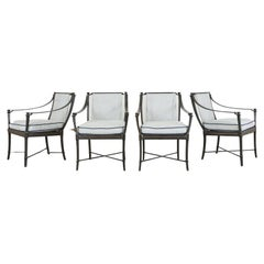 Four Andalusia Royal Lounge Gondola Armchairs by Richard Frinier