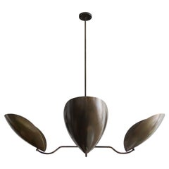Raw Brass Chandelier 'Chiton-4' by Gallery L7