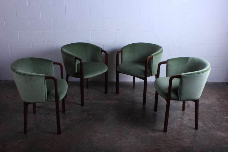 Four Armchairs by Edward Wormley for Dunbar For Sale 6