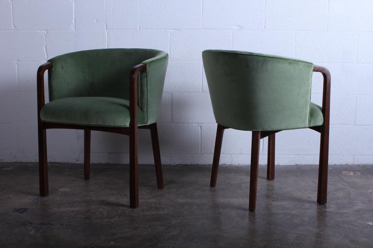 Four Armchairs by Edward Wormley for Dunbar In Good Condition For Sale In Dallas, TX