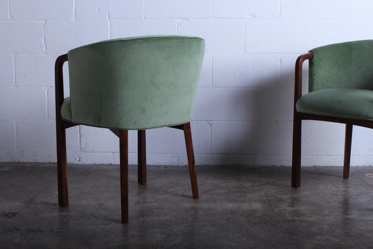 Four Armchairs by Edward Wormley for Dunbar For Sale 4