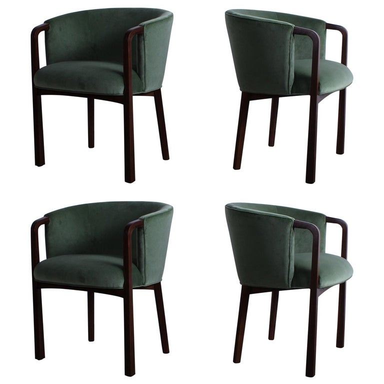 Four Armchairs by Edward Wormley for Dunbar For Sale