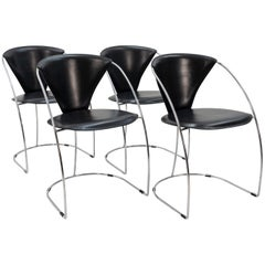 Four Arrben Chairs, Italy, 1980s