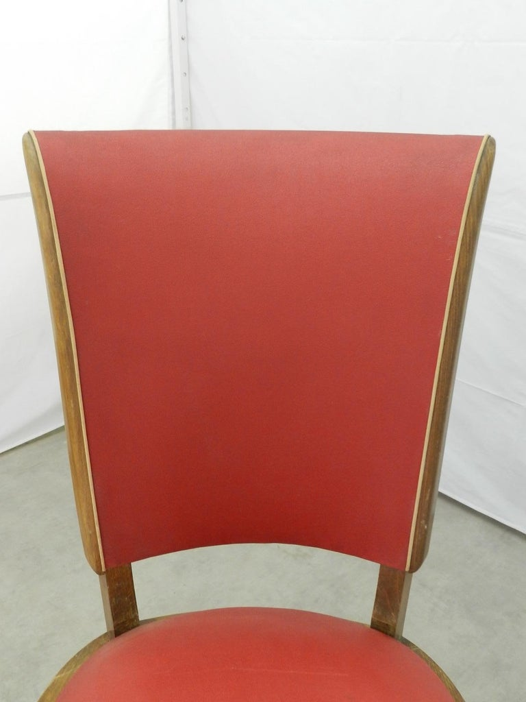Four Art Deco Dining Chairs French to Recover / Restore, circa 1930 In Good Condition For Sale In , South West France
