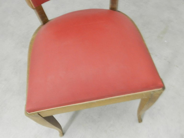 20th Century Four Art Deco Dining Chairs French to Recover / Restore, circa 1930 For Sale