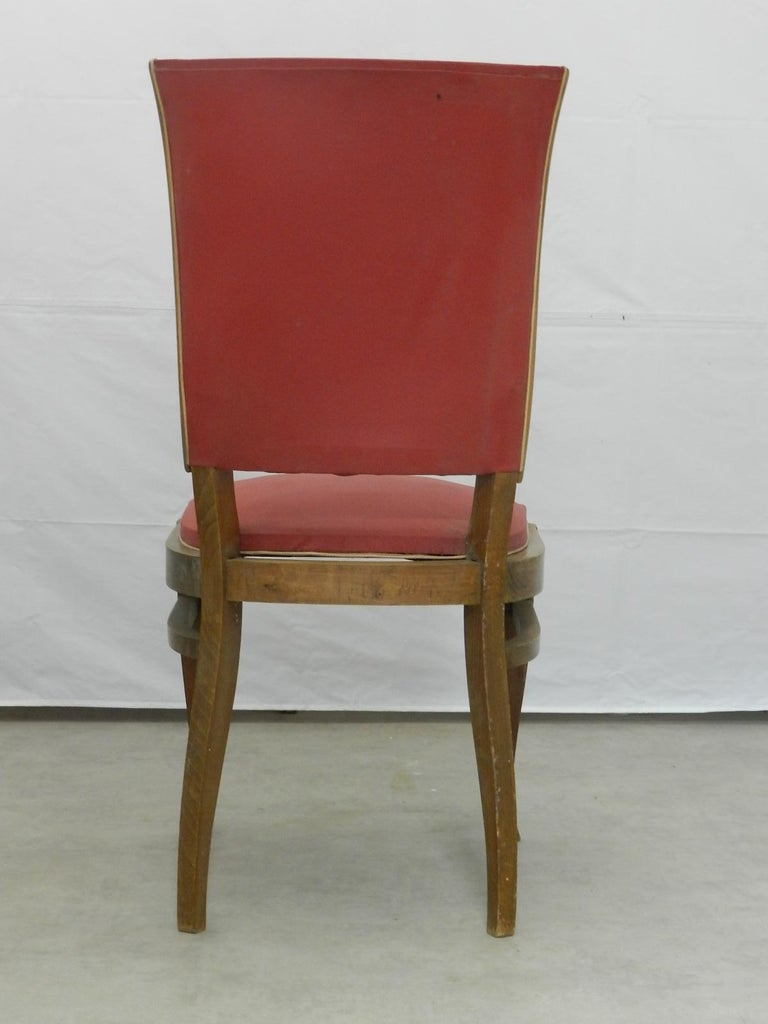 Four Art Deco Dining Chairs French to Recover / Restore, circa 1930 For Sale 1