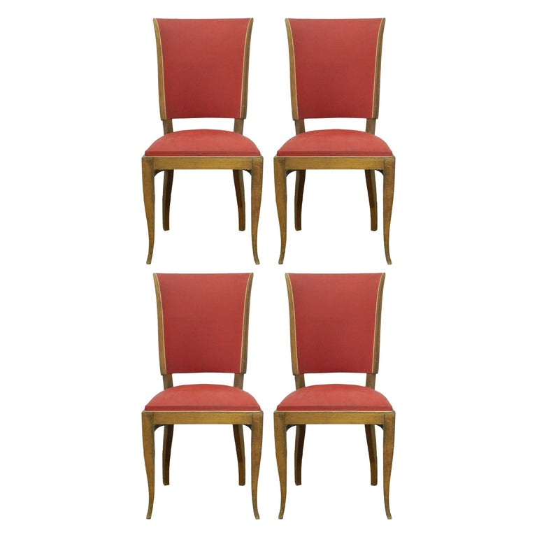 Four Art Deco Dining Chairs French to Recover / Restore, circa 1930 For Sale