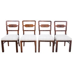 Four Art Deco Dining Room Chairs