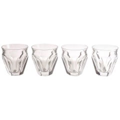 Four Baccarat Harcourt Talleyrand Crystal Tumblers