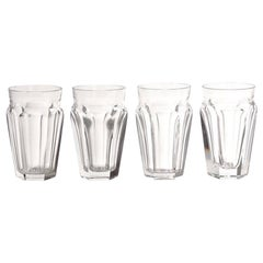 Four Baccarat Talleyrand Crystal Pastis Glasses, 1960s