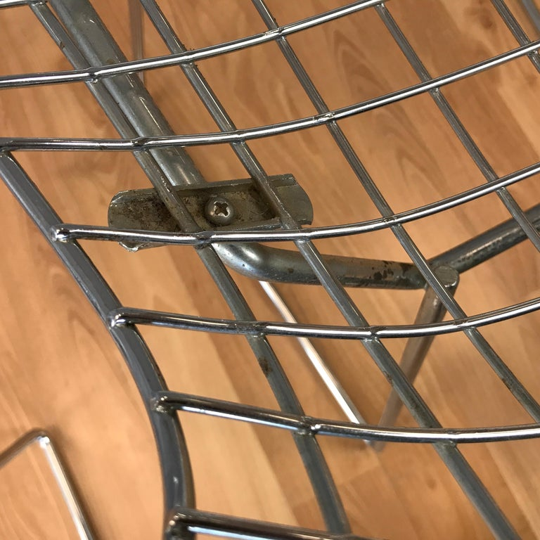 Four Bertoia Chrome Side Chairs for Knoll For Sale 4