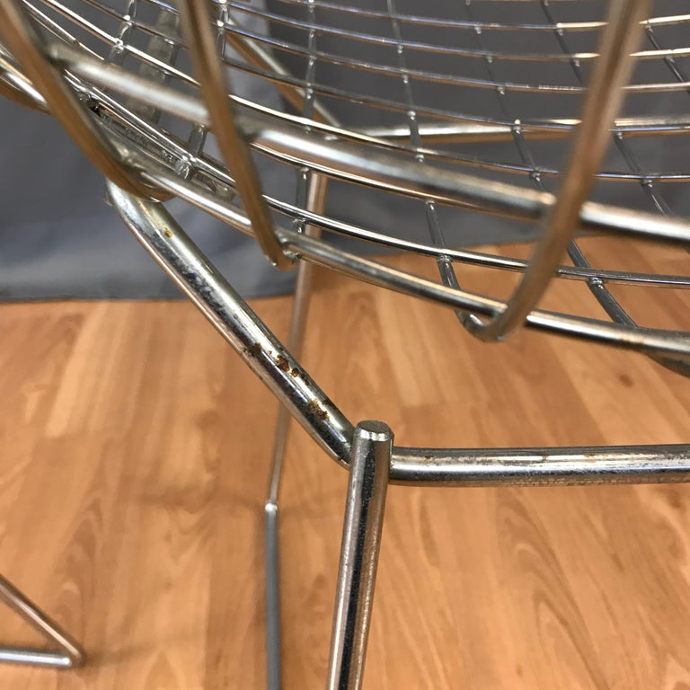 Four Bertoia Chrome Side Chairs for Knoll For Sale 5
