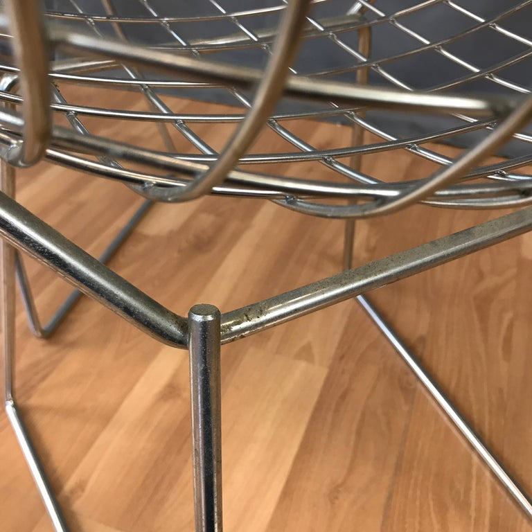 Four Bertoia Chrome Side Chairs for Knoll For Sale 6