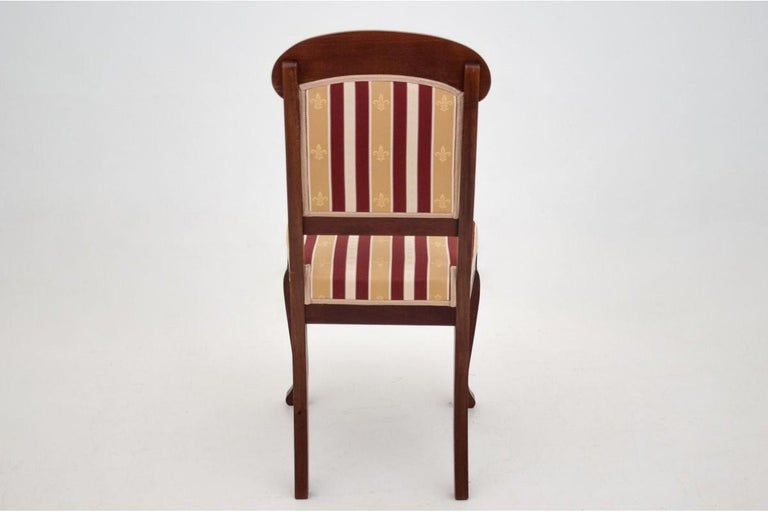 Mahogany Four Biedermeier Dining Room Chairs For Sale