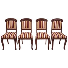 Four Biedermeier Dining Room Chairs