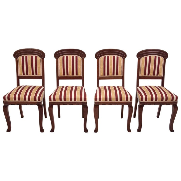 Four Biedermeier Dining Room Chairs For Sale