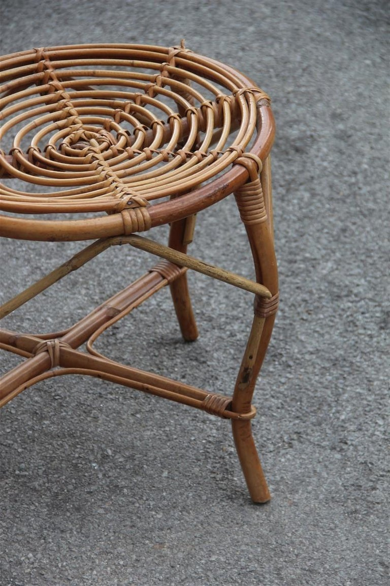 Bonacina Style Chairs Bamboo Italian Design Straw Articulated Design Great Shape For Sale 6
