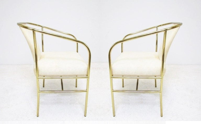 American Four Brass Armchairs by Milo Baughman for Thayer Coggin For Sale