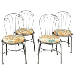 Four Brush Metal Chairs