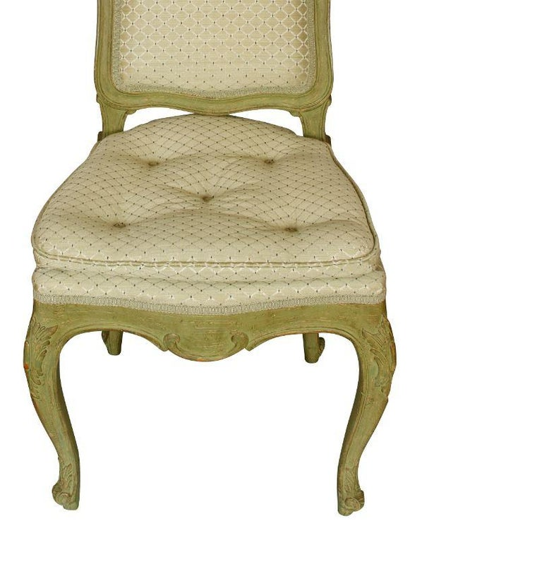 Unknown Four Carved Shell Back Dining Chairs For Sale