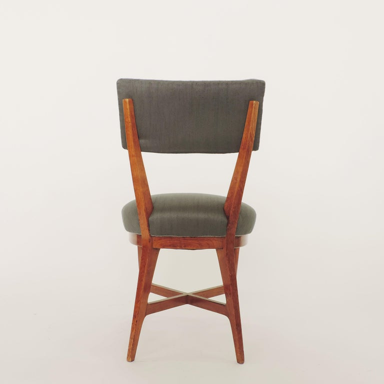 Mid-Century Modern Four Chairs Attributed to Studio BBPR, Italy, 1940s For Sale