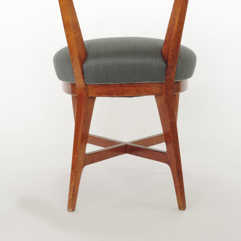 Mid-20th Century Four Chairs Attributed to Studio BBPR, Italy, 1940s For Sale