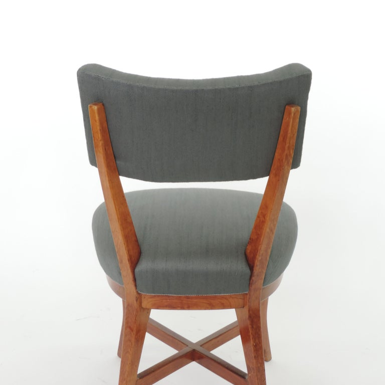 Upholstery Four Chairs Attributed to Studio BBPR, Italy, 1940s For Sale