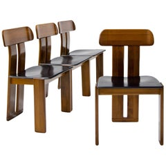 Vier Stühle, Zugeschrieben Afra & Tobia Scarpa für Maxalto, Italien, 1970er Jahre